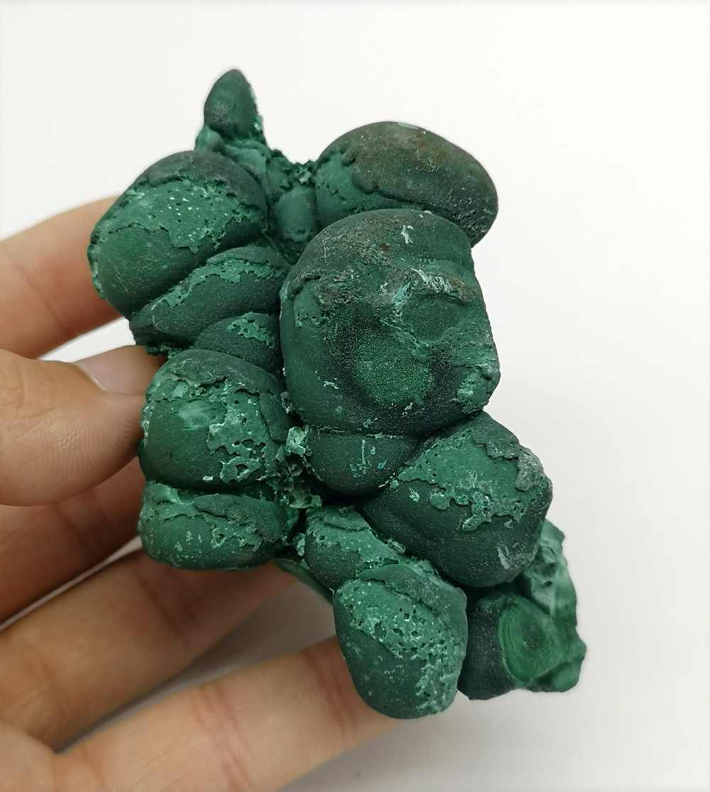 202 グラムナチュラル rare 珪孔雀石マラカイトミネラル標本観賞石教育標本コレクション