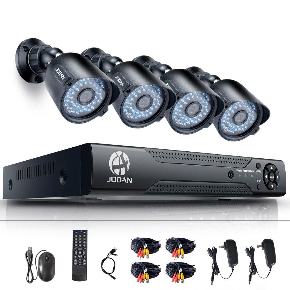 JOOAN 8CH DVR CCTV Vidéo Enregistreur 4 pcs 720 p Accueil Sécurité Étanche de Vision Nocturne Caméra de sécurité système de Surveillance Kits