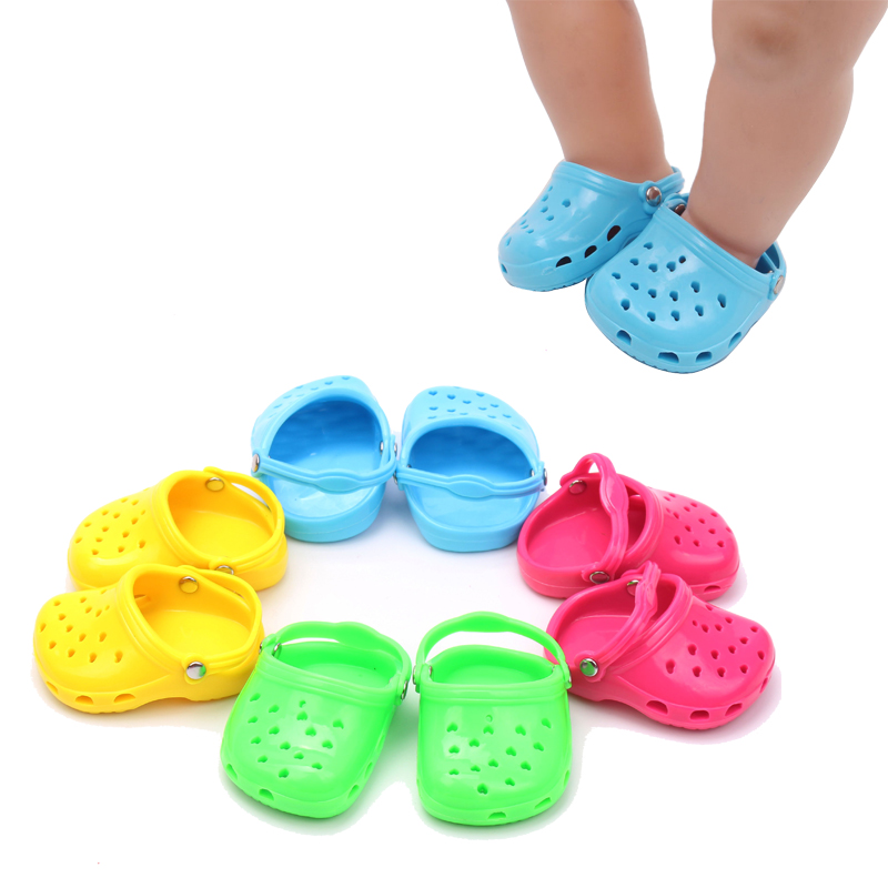 18 inch Girls doll shoes casual sandals beach shoe American new born accessories Baby toys fit 43 cm baby dolls g22 in Dolls Accessories from Toys Hobbies
