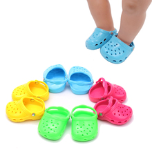 18 inch Girls doll shoes casual sandals beach shoe American new born accessories Baby toys fit 43 cm baby dolls g22 18 inch girls doll shoes winter woolen slippers casual shoe american newborn accessories baby toys fit 43 cm baby dolls s129