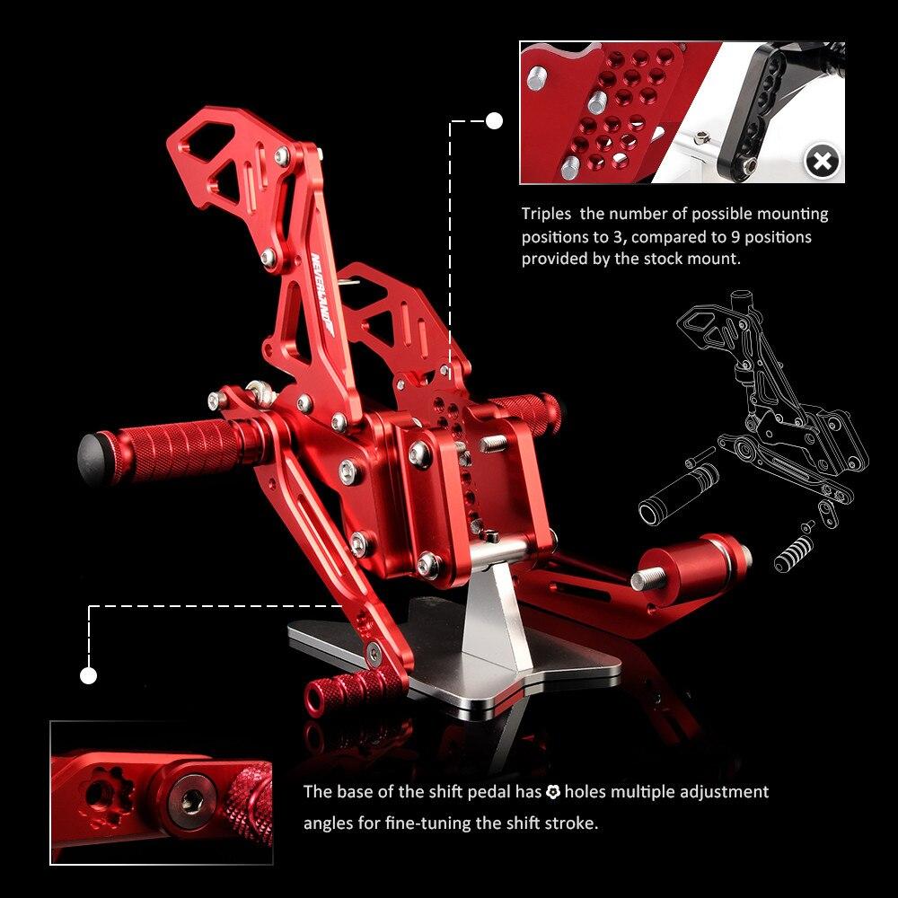 Neverland CNC montages pour siège arrière montage pour siège arrière repose-pieds repose-pieds Chevilles Pour Suzuki GSXR600 GSXR750 2006 2007 2008 2009 2010 - 5
