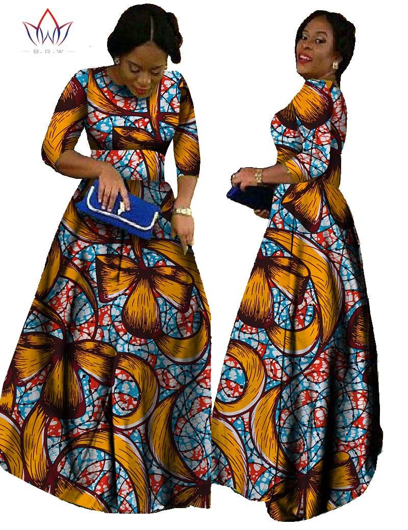 Afrika qadınlar üçün 2019 african bazin paltar african uzun - Qadın geyimi - Fotoqrafiya 6