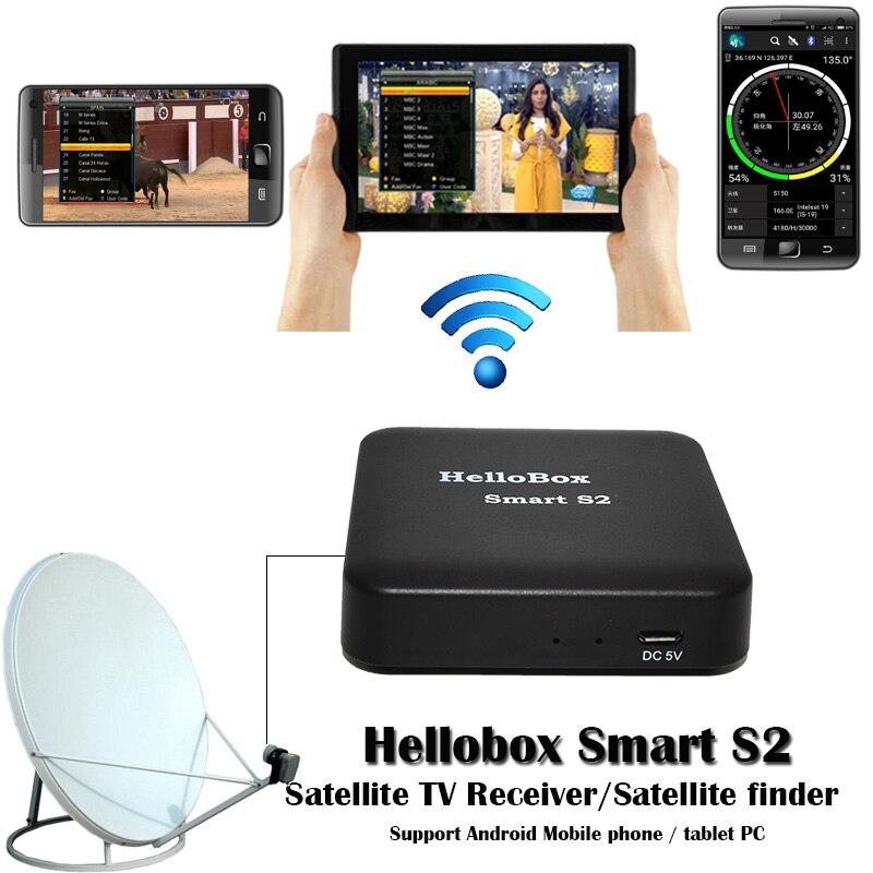 Hellobox Smart S2 TV Receiver Play On Mobile Phone Satellite Finder Support TV Play Hellobox B1 Finder Upgrade Version