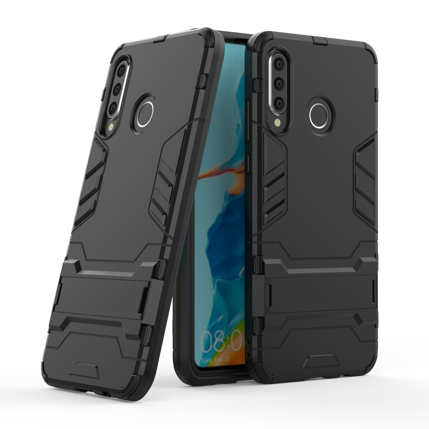 Shockproof TPU + Hard PC Case for Huawei P30 Lite P30Pro P20 Lite P20Pro Honor 9 Lite Case Dual Hybrid Back Cover with Bracket