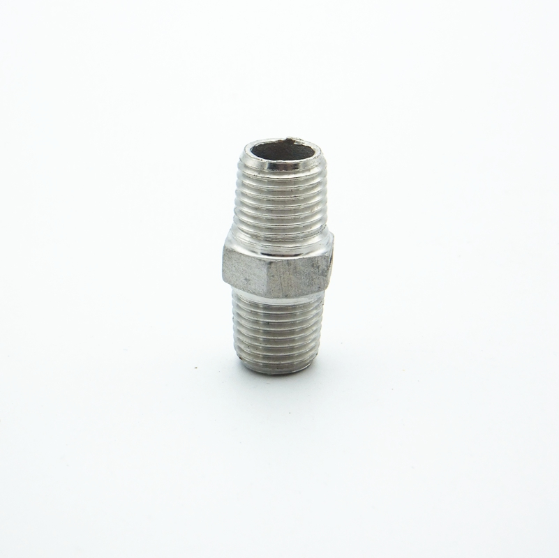 Quot bsp male thread hex nipple union stainless steel