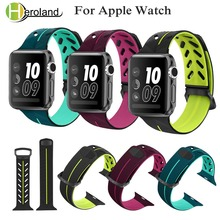 Sport Strap Silicone bands for Apple Watch 38mm 42mm 40mm 44mm Replacement Rubber Wristband for iwatch series 4 3 2 1 watch band top for apple watch band nike silicone replacement sport band for apple series 4 band for iwatch 4 bands 44mm 38mm series 3 2 1