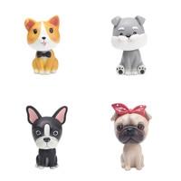 Creative Imitation Resin Shake Head Dog Dolls Figurines Home Decoration Accessories Car Ornaments Crafts Christmas Birthday Gift