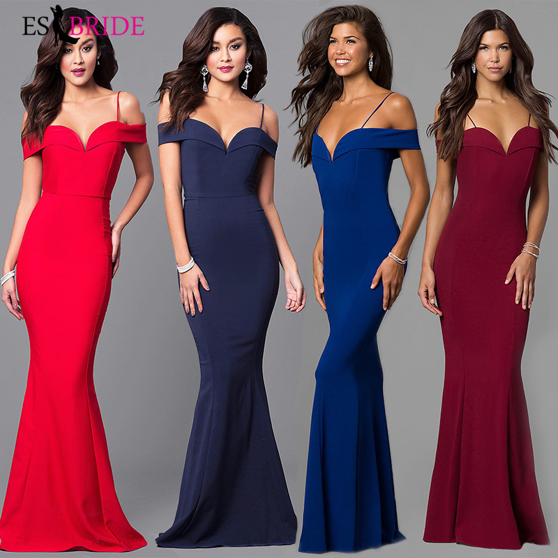 Fashion Mermaid Sexy   Evening     Dresses   Long 2019 Sweetheart Lace Wedding Guest Gown Backless Elegant Abito Da Cerimonia ES1656
