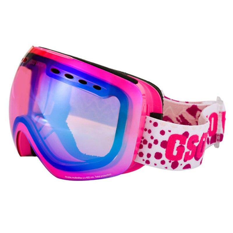 GSOU lunettes de Ski de neige pour hommes et femmes extérieur multicolore Snowboard lunettes hiver professionnel unisexe Ski de neige Sports verre - 6
