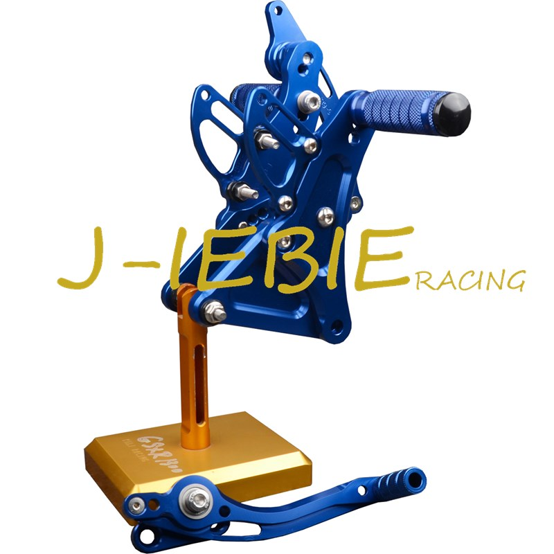 CNC Racing Rearset Adjustable Rear Sets Foot pegs Fit For Buell XB9 XB12 XB9R XB12R S BLUE cnc racing rearset adjustable rear sets foot pegs fit for ducati streetfighter 848 1098
