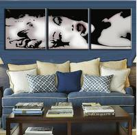 3 Pcs Set Vintage Poster Framed Portrait Painting Marilyn Monroe Beauty Painting Abstract Canvas Wall Art