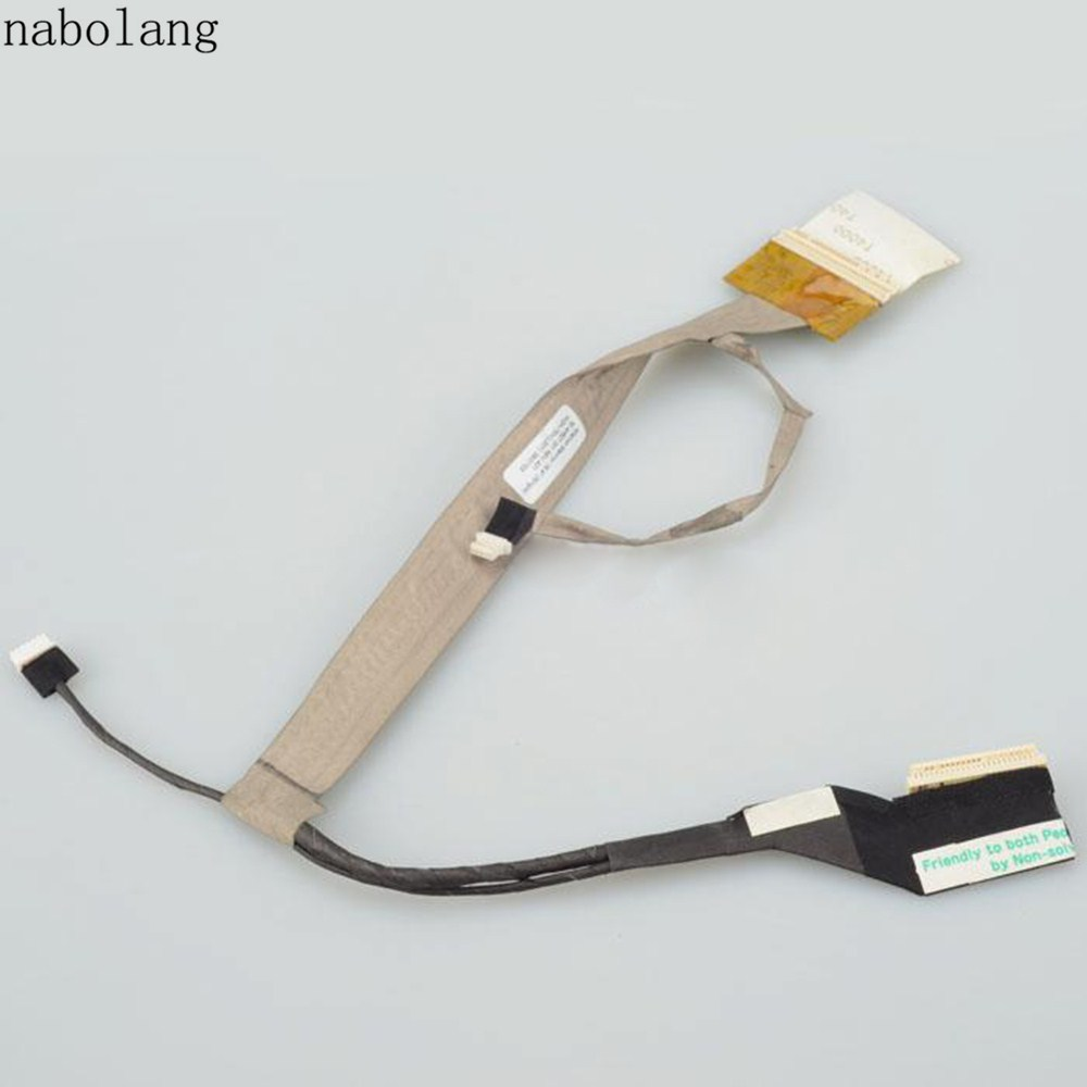 Nabolang LCD display Video flex cable For HP Compaq CQ50 G50 CQ60 CQ70 50.4H507.001 LCD video cable soncci for hp pavilion g7 g7 1000 17 3 series lcd video cable repair parts for hp g7 g7 1000 lcd display video flex cable