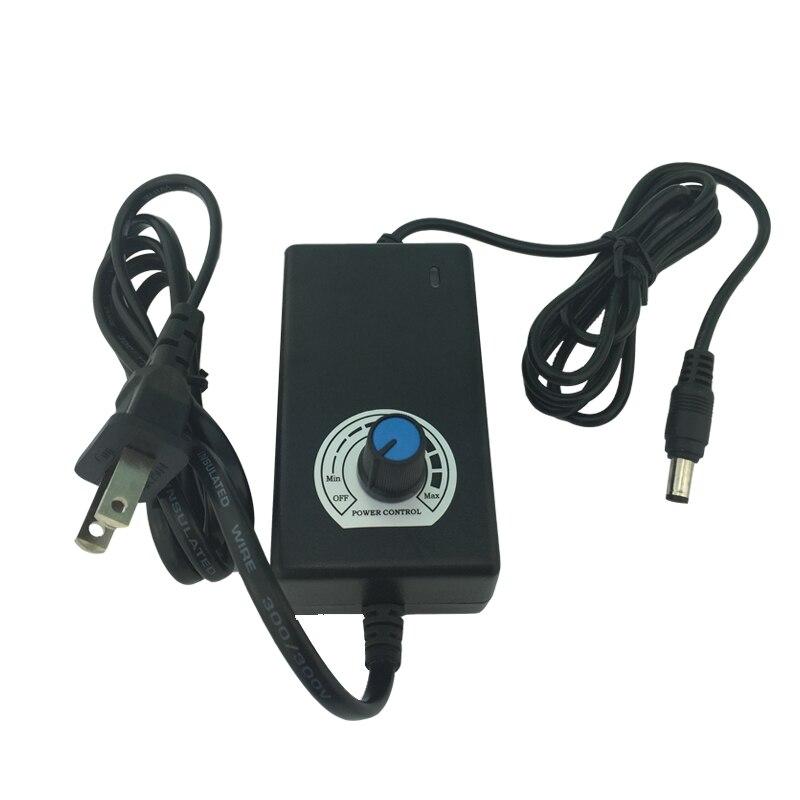 12V 2A AC to DC Power Supply Adjustable Voltage, Adjusting Motor Speed