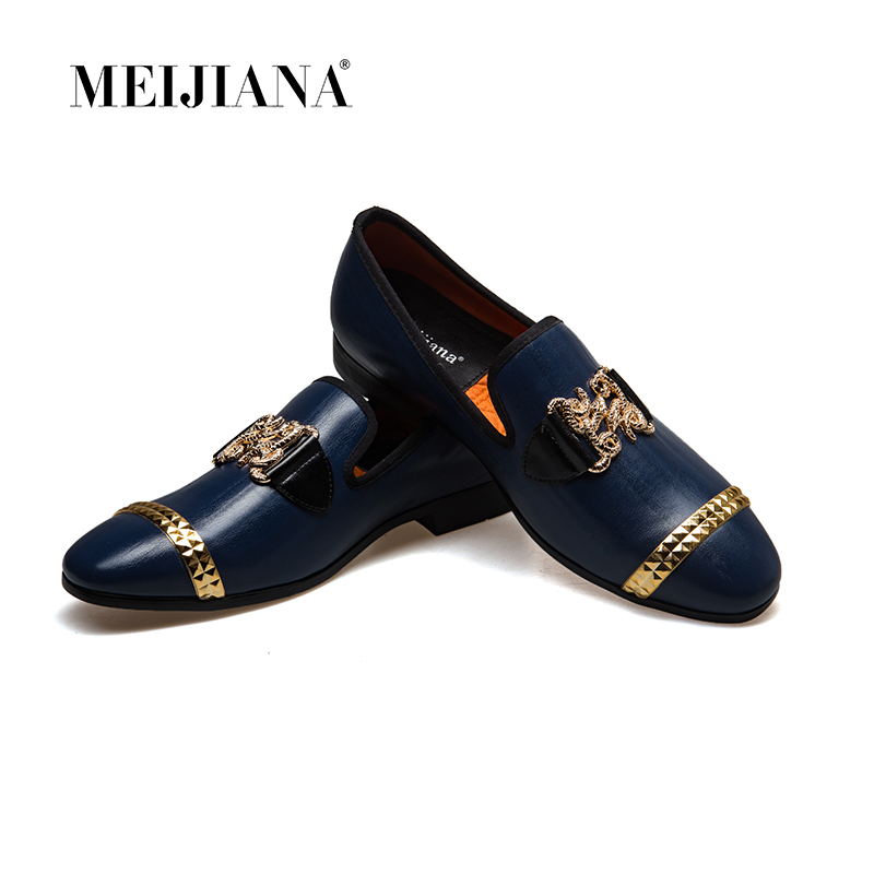 MeiJiaNa 2019 New Men genuine leather loafers Shoes Handsome Comfortable Brand Men Casual Shoes