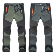 2017 Outdoor Softshell Trousers Waterproof Windproof Thermal for Camping Ski Climbing New Winter Men Women Hiking Pants  цены онлайн