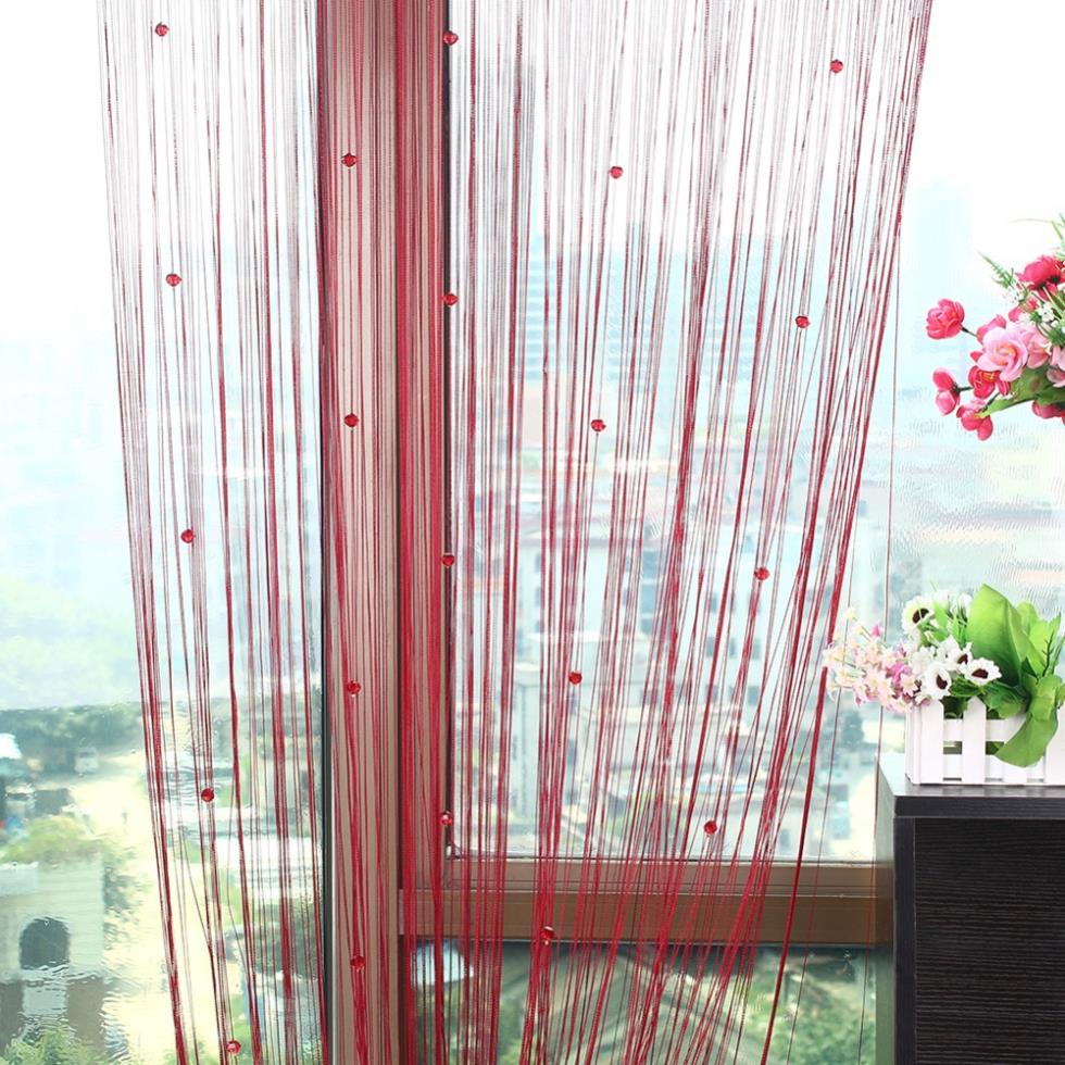 Beaded string curtains - Beaded String Curtain Fringe Curtains Fly Insect Door Screen Divider Window Curtain Blind Drape Modern Curtains For Living Room In Curtains From Home