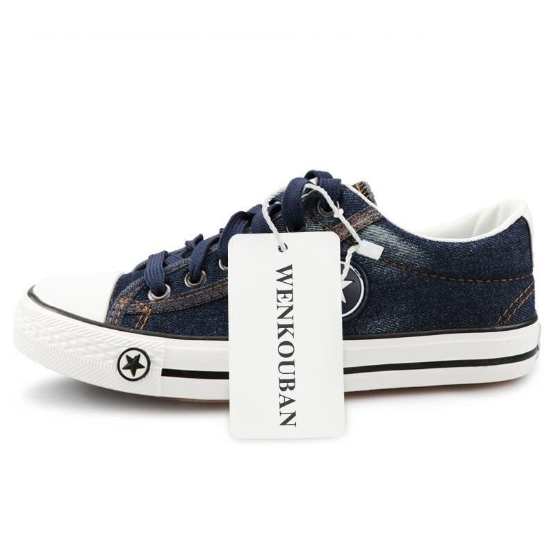 Image 5 - Мужская повседневная обувь, летние кроссовки из джинсовой ткани, Модные дышащие кроссовки на плоской подошве со шнуровкой, вулканизированные кроссовки, Chaussure hommesПовседневная обувь   -
