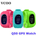 Smart watch niños kid reloj caliente q50 gsm gprs gps localizador rastreador anti-perdida smartwatch niño guardia para ios android