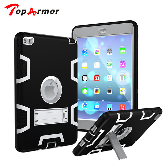 TopArmor mini4 Tablet Case For Apple iPad mini 4 Kids Safe Armor Shockproof Heavy Duty 7.9 inch PC Hard Cover coque capa