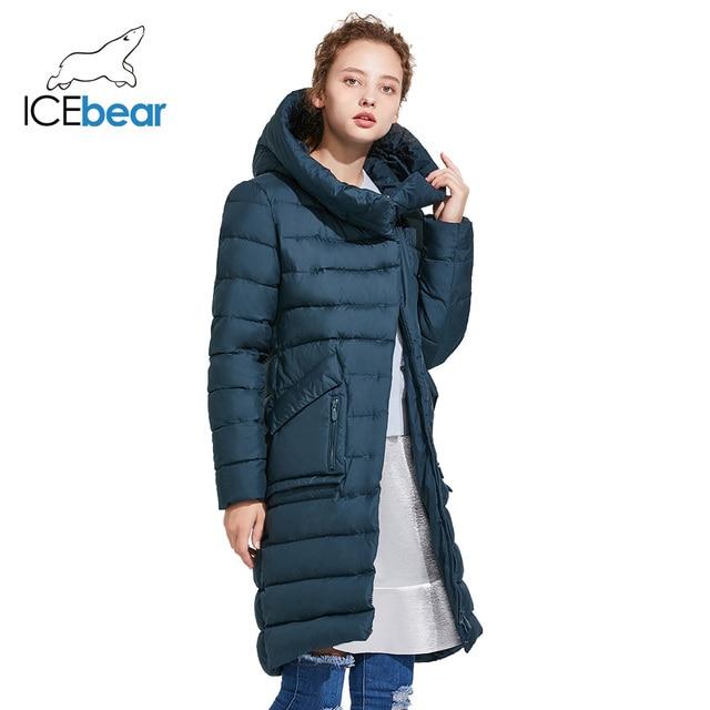 ICEbear 2017 Модный бренд зимняя женская куртка высокого качества эргономичный дизайн воздухопроницаемая ткань тёплый пуховик с большими карманами 16G6233D