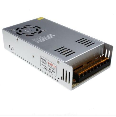 1 piece AC <font><b>110V</b></font> 220V to DC <font><b>12V</b></font> 30A 360W Regulated Switching <font><b>Power</b></font> <font><b>Supply</b></font> Converters Transformer Metal Case for LED Strip Light image