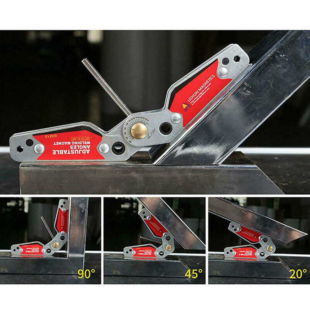 WM10 Magnetic Holder Hardware Clamp Strong Adjustable Angle Locator Corner Hand Tools Home Parts Fixture Welding Positioner