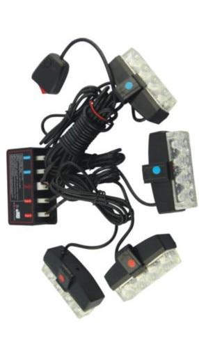 CYAN SOIL BAY 4X4 16W LED Car Strobe Flash Grill Warning Emergency Light White