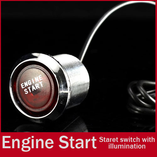 Car Suv Keyless Engine Ignition Power Switch Blue Led: Universal 22mm RED LED Illumination Car Keyless Engine