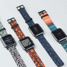 Xiaomi Amazfit Смарт-часы ремешок радуга и Тотем серии Цвета молодежное издание оригинальный