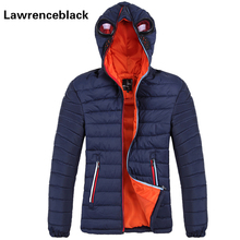 Windproof Men'S Winter Jacket with Glasses Coat Male Wadded Thick Warm Zip Coat 2017 Brand Parka Hooded Design Quilted Jacket 95