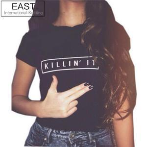 Killin It модная женская футболка Топы Harajuku футболка белый черный короткий рукав футболки повседневная одежда для ночного клуба