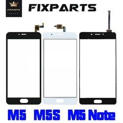 Najwyższej jakości zewnętrzny panel szklany Meizu M5s ekran dotykowy Digitizer dla Meizu M5 M5 Mini części zamienne Meizu M5 uwaga soczewka czujnika