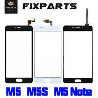 Qualidade superior painel de vidro exterior meizu m5s digitador da tela toque para meizu m5 m5 mini peças reposição meizu m5 nota sensor lente