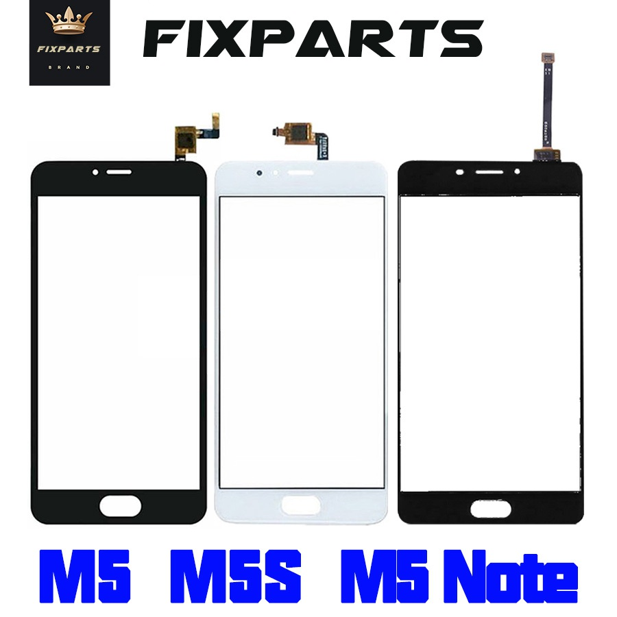 TOP Quality Outer glass panel Meizu M5s Touch Screen Digitizer For Meizu M5 M5 Mini Replacement Parts Meizu M5 Note Sensor Lens