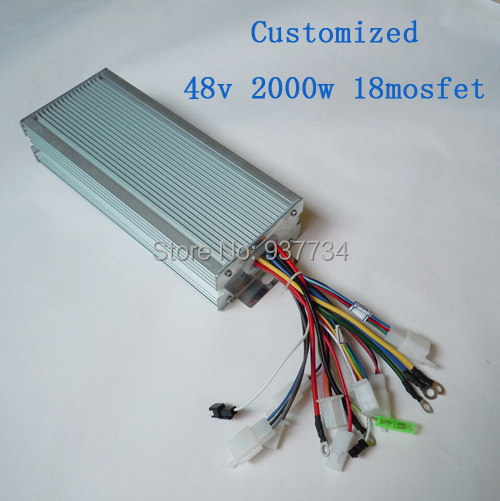 BLDC 48V 2000W 18 mosfet e-scooter conterller /electric motorcycle current 50A controller G-K024 - Suzhou SND Zhenlong Motor Co. Ltd store