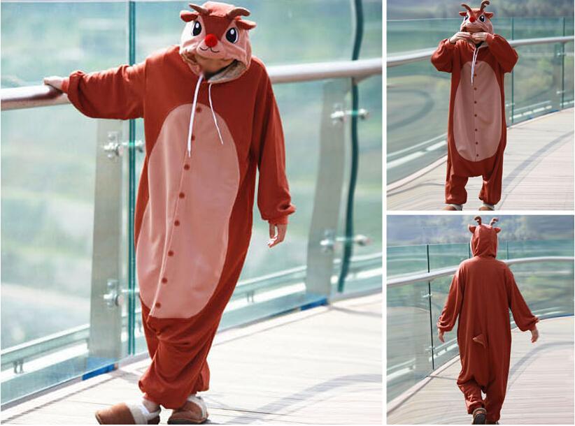 reno rudolph cosplay disfraces adultos onesies disfraces nariz roja diseo de personaje de dibujos animados cosplay
