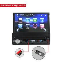 Бесплатная доставка автомобилей Радио стерео Универсальный 7 дюймов скольжения вниз Сенсорный экран 1DIN FM AM с USB SD Bluetooth MP3 MP4 аудио плеер CW0013