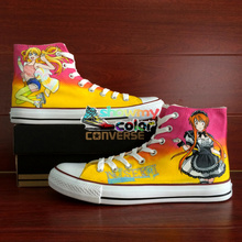 Men Converse Women's Skateboarding Shoes Designer Canvas Sneakers Hand Painted Anime Shoes Nisekoi Athletic All Star