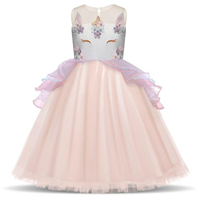 a1387c32946 Été filles licorne fête robe nouveau Designer enfants bal cérémonies robes  Tutu moelleux robes anniversaire princesse