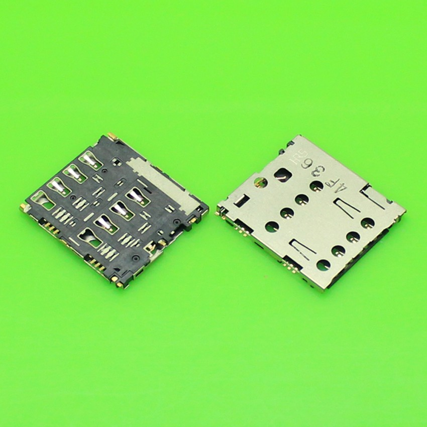 20PCS/lot,new SIM card reader connector for ASUS ZenFone 6 A600CG A601CG T00G holder slot tray module