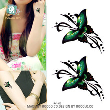 Body Art Waterproof Temporary Tattoos For Women And Men 3d Simple Butterfly Design Small Arm Tattoo Sticker RC2302