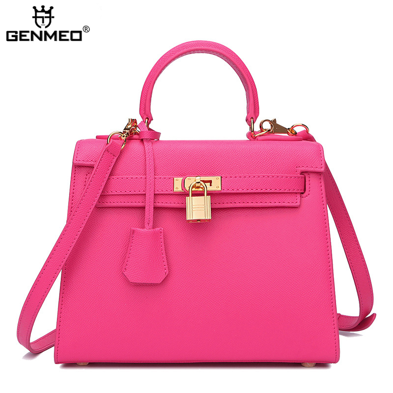 все цены на New Arrival Famous Brand Design Genuine Leather Handbag Women Cow Leather Shoulder Bag Sexy Ladies Luxury Messenger Bags Bolsa