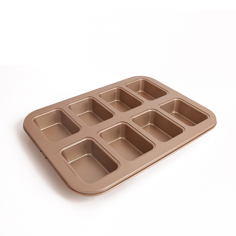 High Quality Super Non-stick steel professional <font><b>Petite</b></font> 8 <font><b>Cups</b></font> Loaf Pan Kitchen Bakeware Tray with cover