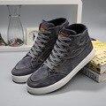 Novos Homens Da Moda Sapatas de Lona Ocasionais Aumentar 2017 Homens Tornozelo Botas Sapatos Top Sapatos de Grife Homens Populares Respirável Sapatos N42