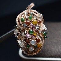 Fine Jewelry реальные 925 Steling Серебряные s925 Myanmer Тип 100% натуральный драгоценный камень нефрит женский кулон колье Рождественский подарок