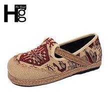 HEE GRAN Estilo Beijing Zapatos de Mujer Popular Costumbre Cultural de Mujeres del Resorte Zapatos de Un Solo Tamaño 35-40 XWD5279