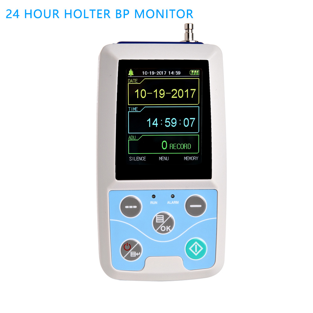 24 hours Blood Pressure Monitor BP Meter Upper arm blood  Digital Sphygmomanometer pressure monitor ABPM50 automatic Ambulatory voice version digital lcd upper arm blood pressure monitor heart beat meter machine spygmomanometer portable home type free ship