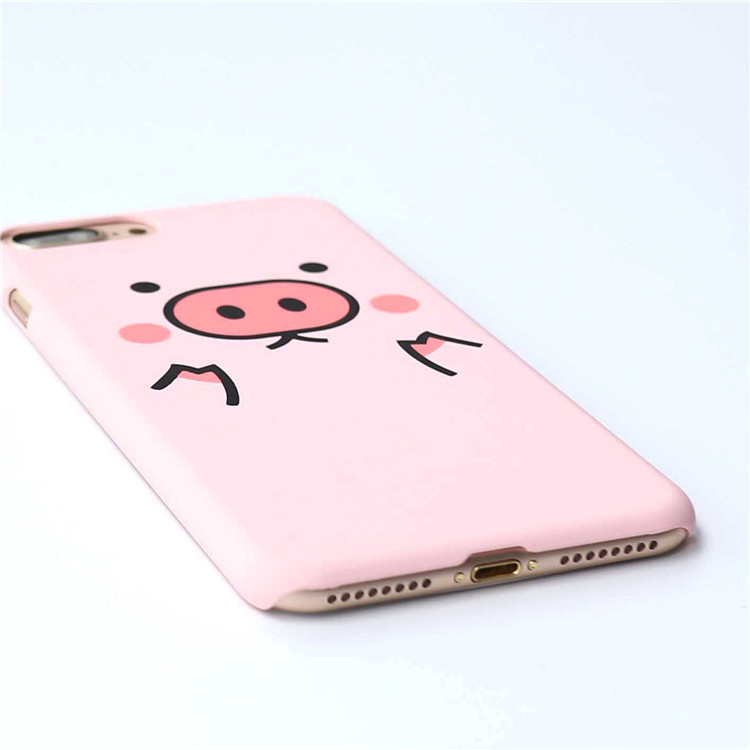 Ins Hot Kawaii Lovely Pig Characters Piggy For iPhone x 10 6 7 8 Plus Candy Pink Fresh Adorable Likable Porket Carton Case