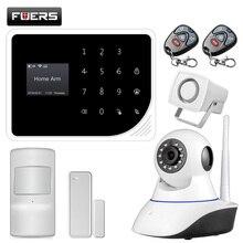 FUERS S5 wireless Sicherheit Home Alarm System APP Control Alarm Russisch Spanisch Englisch Dutch mit 720P IP kamera