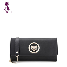 FOXER Party style clutch Bags Fashion Ladies chain strap purse flap cover evening bag Free shipping